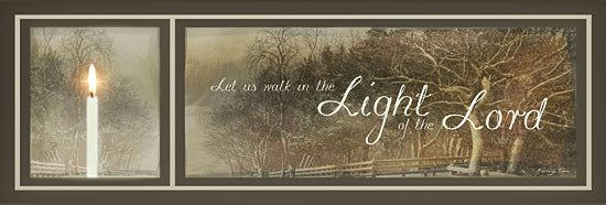 Robin-Lee Vieira RLV541 - Walk in the Light - Candle, Trees, Fence, Path, Landscape, Inspirational, Sign, Photography, Religious from Penny Lane Publishing