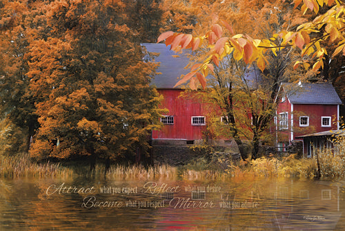Robin-Lee Vieira RLV558 - Reflections - Farm, Typography, Landscape, Inspirational, Photography, Farm Life, Fall from Penny Lane Publishing
