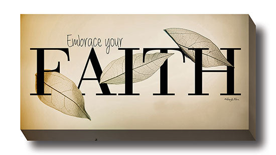 Robin-Lee Vieira RLV574 - Embrace Your Faith - Leaves, Inspirational, Sign, Photography from Penny Lane Publishing