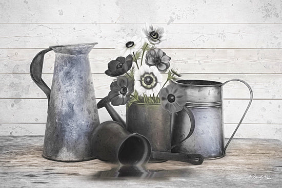 Robin-Lee Vieira RLV665 - Floral Farmhouse I - Still Life, Pitchers, Flowers from Penny Lane Publishing