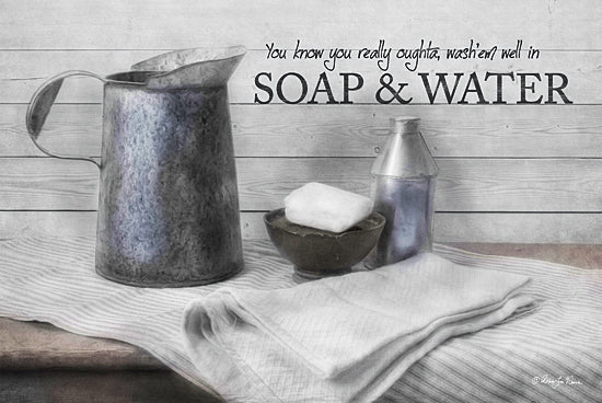 Robin-Lee Vieira RLV668 - Soap & Water - Laundry, Soap, Silver, Signs from Penny Lane Publishing