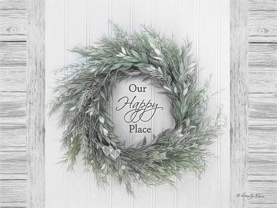 Robin-Lee Vieira RLV670 - Our Happy Place - Wreath, Inspirational, Signs, Greenery from Penny Lane Publishing