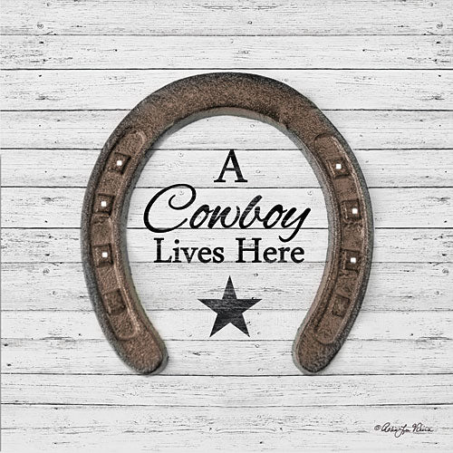Robin-Lee Vieira RLV677 - A Cowboy Lives Here - Horseshoe, Cowboy, Star from Penny Lane Publishing