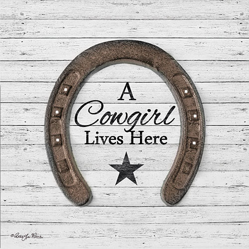 Robin-Lee Vieira RLV678 - A Cowgirl Lives Here - Horseshoe, Cowgirl, Star from Penny Lane Publishing