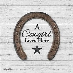 RLV678 - A Cowgirl Lives Here - 12x12