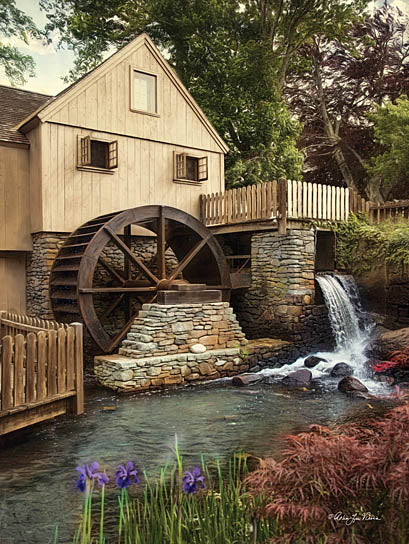 Robin-Lee Vieira RLV679 - The Old Mill - Mill, Flowers, River from Penny Lane Publishing