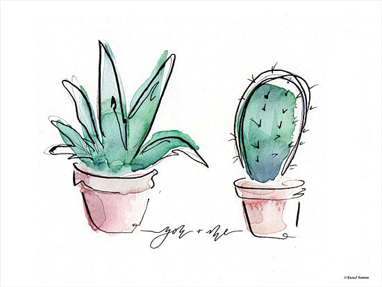 Rachel Nieman RN107 - RN107 - You and Me Cactus - 16x12 Cactus, Greenery from Penny Lane