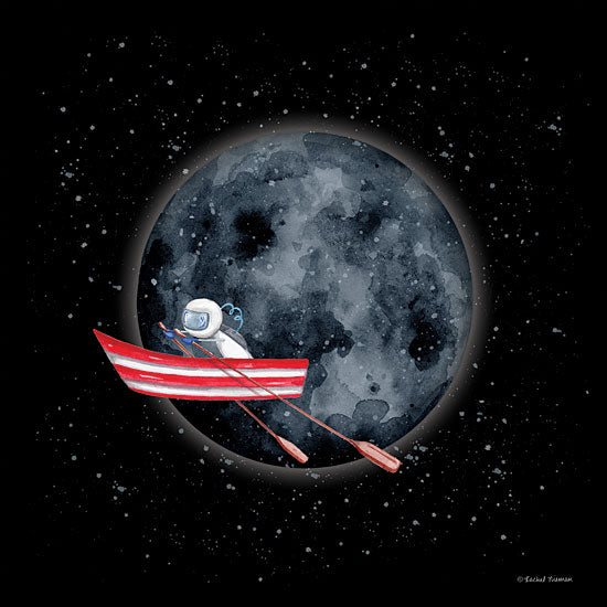 Rachel Nieman RN120 - RN120 - Sail to the Moon - 12x12 Rowboat, Astronaut, Moon, Space from Penny Lane