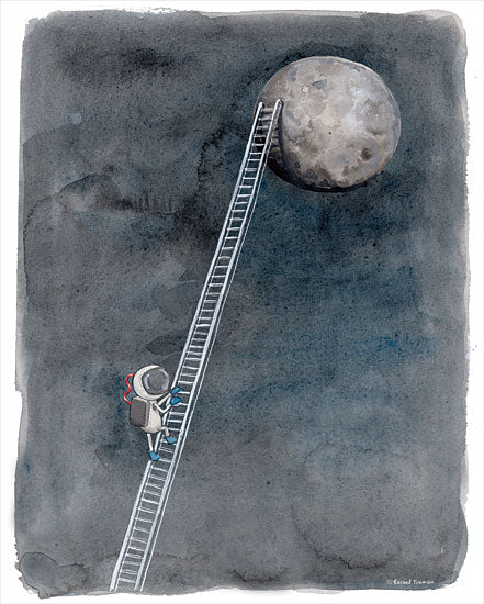 Rachel Nieman RN122 - RN122 - Ladder to the Moon - 12x16 Moon, Ladder, Astronaut from Penny Lane