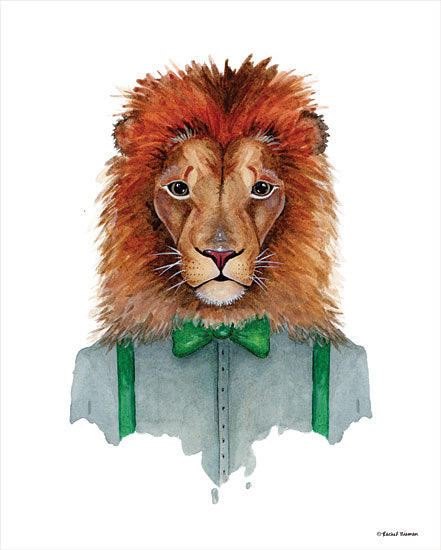 Rachel Nieman RN134 - RN134 - Lovely Lion - 12x16 Lion, Bowtie, Suspenders, Portrait from Penny Lane