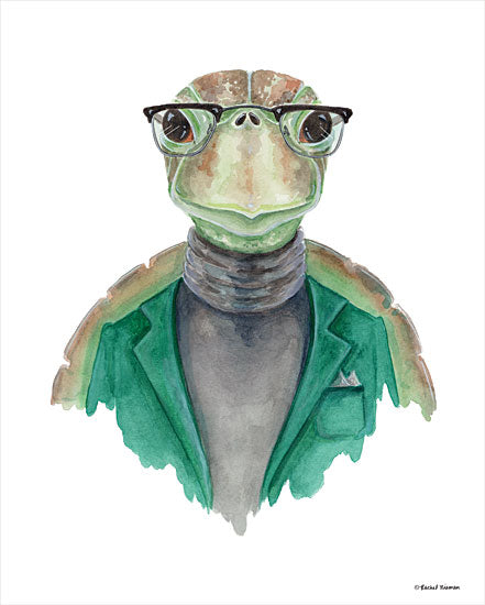 Rachel Nieman RN142 - RN142 - Turtle in a Turtleneck - 12x16 Turtle, Turtleneck, Glasses, Portrait from Penny Lane