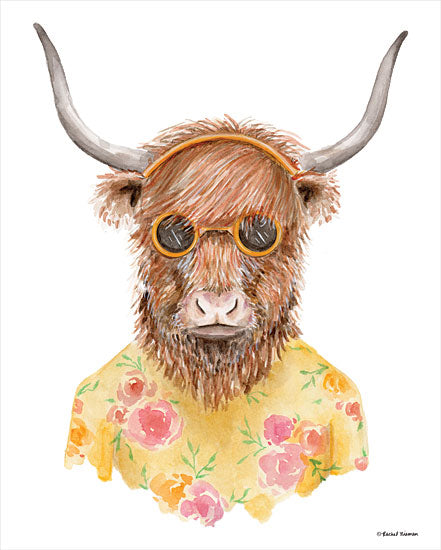 Rachel Nieman RN147 - RN147 - Yak in Yellow - 12x16 Yak, Sunglasses, Portrait from Penny Lane