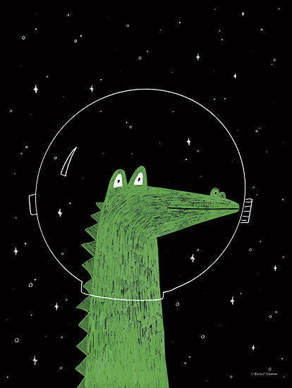 Rachel Nieman RN212 - RN212 - Alligator in Space - 12x16 Alligator, Space, Kid's Art, Astronomy from Penny Lane