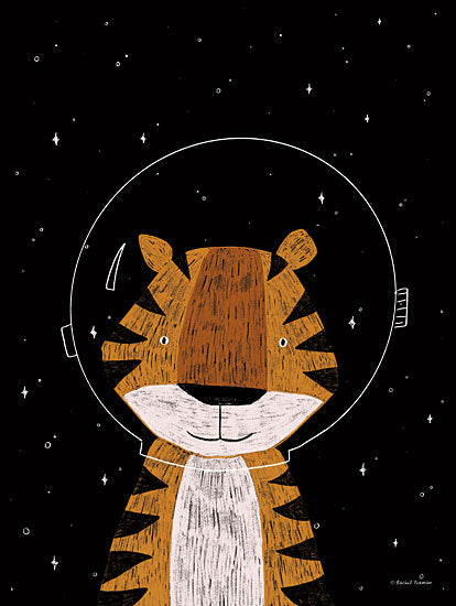 Rachel Nieman RN214 - RN214 - Tiger in Space - 12x16 Tiger, Space, Kid's Art, Astronomy from Penny Lane