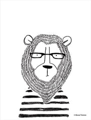 RN217 - Lion in Glasses - 12x16