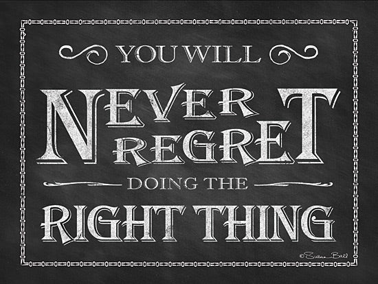 Susan Ball SB218 - Never Regret - Encouraging, Typography, Signs from Penny Lane Publishing