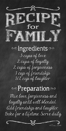 Susan Ball SB291 - Recipe for Family - Recipe, Family, Encouraging, Calligraphy from Penny Lane Publishing