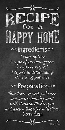 Susan Ball SB292 - Recipe for a Happy Home - Recipe, Home, Encouraging, Calligraphy from Penny Lane Publishing