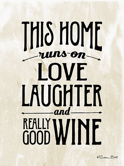 Susan Ball SB349A - Home with Wine - Wine, Typography, Signs from Penny Lane Publishing