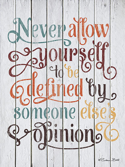 Susan Ball SB380 - Never Allow Yourself - Typography, Inspirational, Signs from Penny Lane Publishing