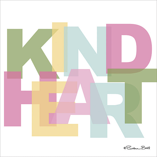 Susan Ball SB410 - Kind Heart  - Typography, Signs, Inspirational, Tween from Penny Lane Publishing