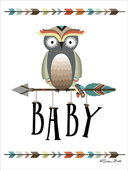 Susan Ball SB420 - Owl Baby - Baby, Owl, Arrow, Signs, Indian from Penny Lane Publishing