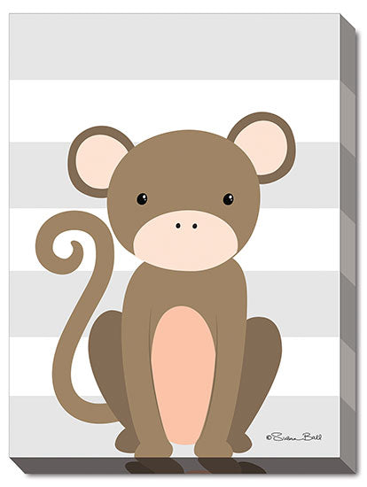 Susan Ball SB441A - Monkey Stripe - Monkey, Kids, Children, Animals from Penny Lane Publishing