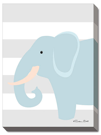Susan Ball SB442A - Elephant Stripe - Elephant, Kids, Children, Animals from Penny Lane Publishing