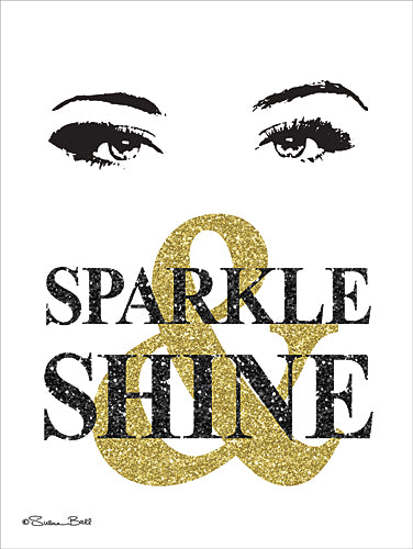 Susan Ball SB453 - Sparkle & Shine - Black, Gold, Sign, Contemporary, Humor, Tween from Penny Lane Publishing