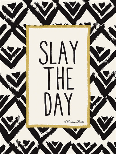 Susan Ball SB459 - Slay the Day - Black, Gold, Sign, Contemporary, Humor, Tween from Penny Lane Publishing