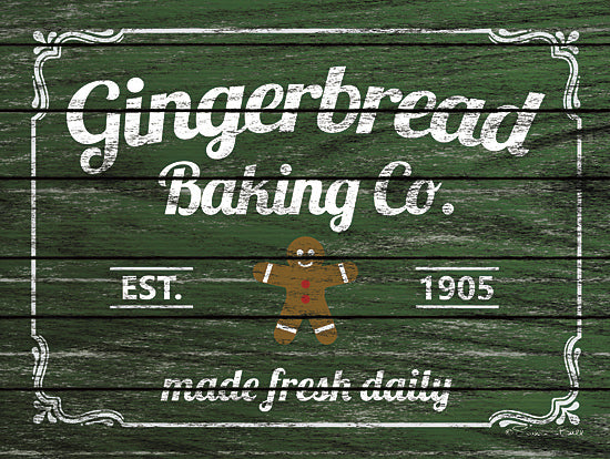 Susan Ball SB518 - Gingerbread Baking Co. - Gingerbread, Baking, Kitchen, Signs from Penny Lane Publishing