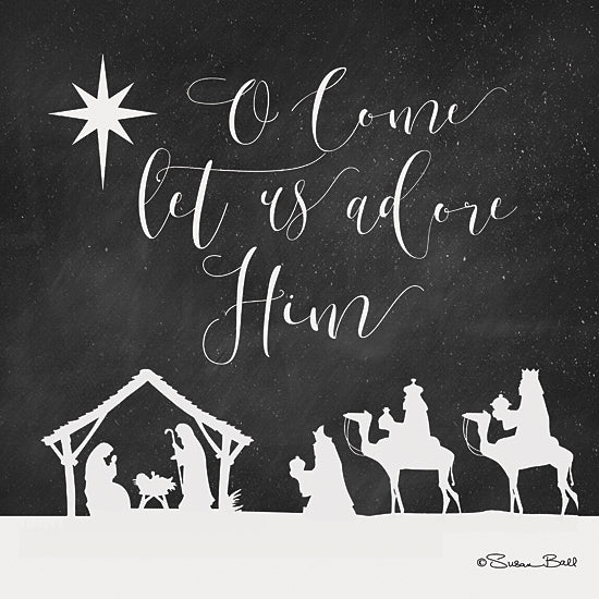 Susan Ball SB522 - O Come Let Us Adore Him  - Nativity, Holiday, Kings, Typography, Star from Penny Lane Publishing