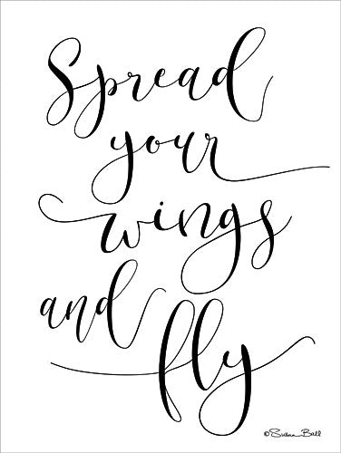 Susan Ball SB536 - Spread Your Wings and Fly - Typography, Signs, Inspirational from Penny Lane Publishing