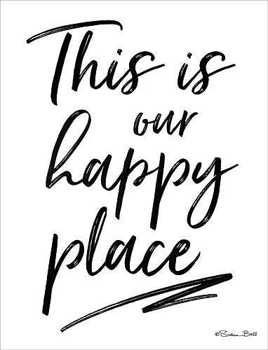 Susan Ball SB539 - This Is Our Happy Place  - Typography, Signs, Inspirational from Penny Lane Publishing
