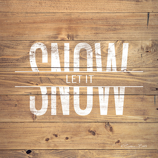 Susan Ball SB728 - SB728 - Let it Snow - 12x12 Signs, Typography, Let it Snow, Photography, Wood Planks, Music from Penny Lane
