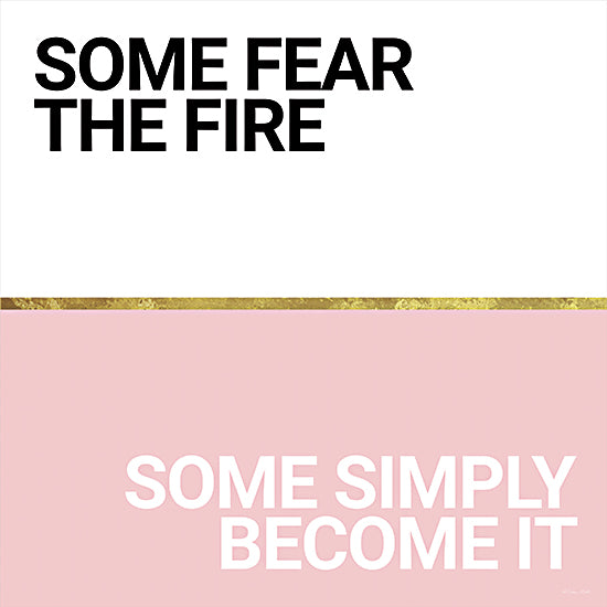 Susan Ball SB787 - SB787 - Become the Fire - 12x12 Become the Fire, Pink and White, Gold, Tween, Signs from Penny Lane