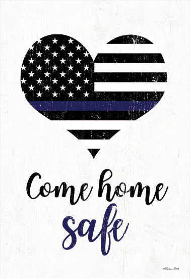 Susan Ball SB800 - SB800 - Come Home Safe - 12x18 Signs, Typography, Come Home Safe, American Flag, Heart, Military from Penny Lane