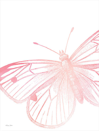Susan Ball SB843 - SB843 - Pink Butterfly II - 12x16 Butterfly, Pink Butterfly from Penny Lane
