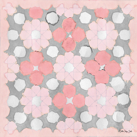 Stellar Design Studio SDS264 - SDS264 - Pink and Gray Pattern 3 - 12x12 Patterns, Pink, Gray, Flowers from Penny Lane