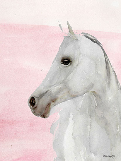 Stellar Design Studio SDS314 - SDS314 - The Beauty - 12x16 White Horse, Watercolor, Portrait from Penny Lane