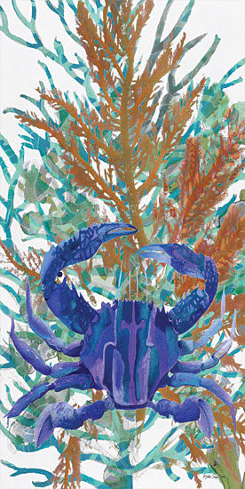 Stellar Design Studio SDS344 - SDS344 - Ocean Garden Medley 2 - 9x18 Blue Crab, Sea Plants, Nautical, Tropical from Penny Lane