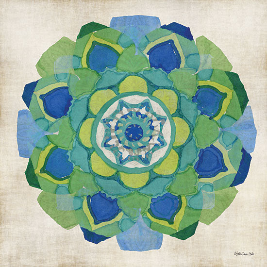 Stellar Design Studio SDS408 - SDS408 - Global Pattern IV - 12x12 Global Pattern, Geometric Shapes, Blue, Green, Contemporary from Penny Lane
