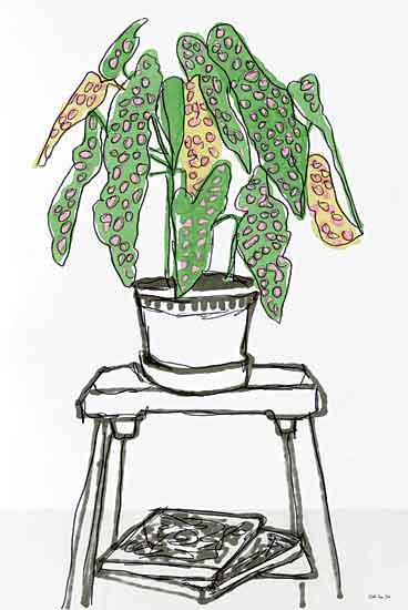Stellar Design Studio SDS438 - SDS438 - House Plant Study I - 12x18 House Plants, Stand, Books, Botanical from Penny Lane