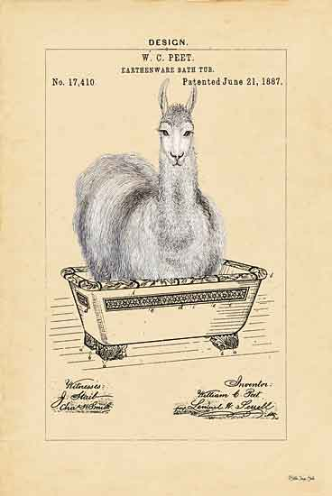 Stellar Design Studio SDS455 - SDS455 - Llama in Tub - 12x18 Signs, Typography, Llama, Bathtub from Penny Lane