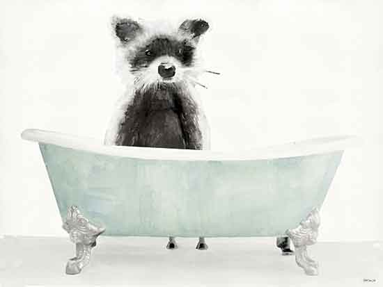 Stellar Design Studio SDS457 - SDS457 - Vintage Tub with Racoon - 16x12 Racoon, Bathtub, Vintage from Penny Lane