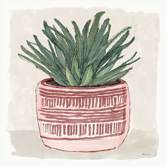 Stellar Design Studio SDS614 - SDS614 - Agave 1 - 12x12 Agave, Succulents, Southwestern, Clay Pot from Penny Lane