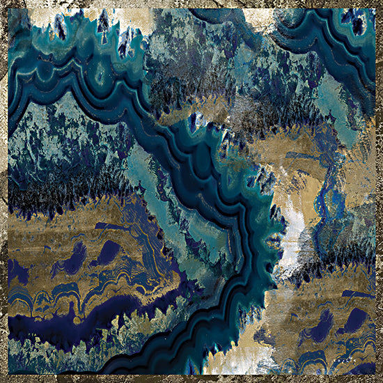 Sophie 6 SIX169 - SIX169 - Geode Reef - 12x12 Geode Reef, Abstract, Blue, Gold, Color Bakery from Penny Lane