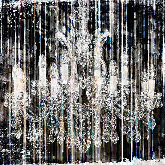 Sophie 6 SIX212 - SIX212 - Fairytale Ballroom I - 12x12 Chandelier, Light, Lamp, Black & White, Abstract, Shabby Chic, Country French, Color Bakery from Penny Lane
