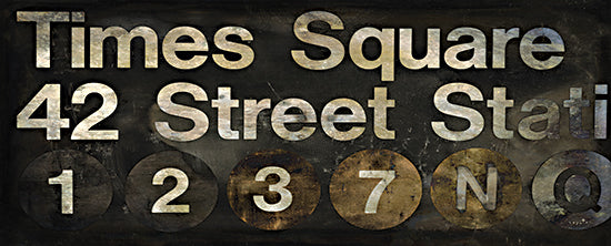 Sophie 6 SIX253 - SIX253 - Times Square NYC - 20x8 Time Square, New York City, Subway Sign, Rustic, Travel, Signs, Color Bakery from Penny Lane