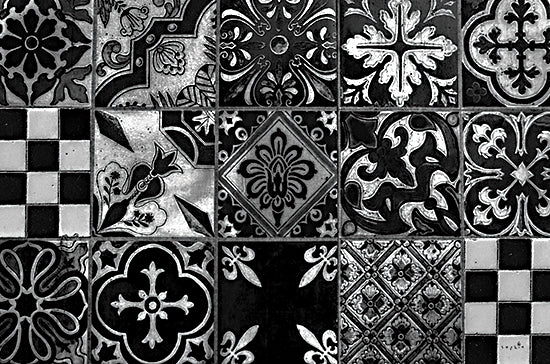 Sophie 6 SIX309 - SIX309 - Floor Plan - 18x12 Tile, Black & White, Designs, Patterns, Color Bakery from Penny Lane